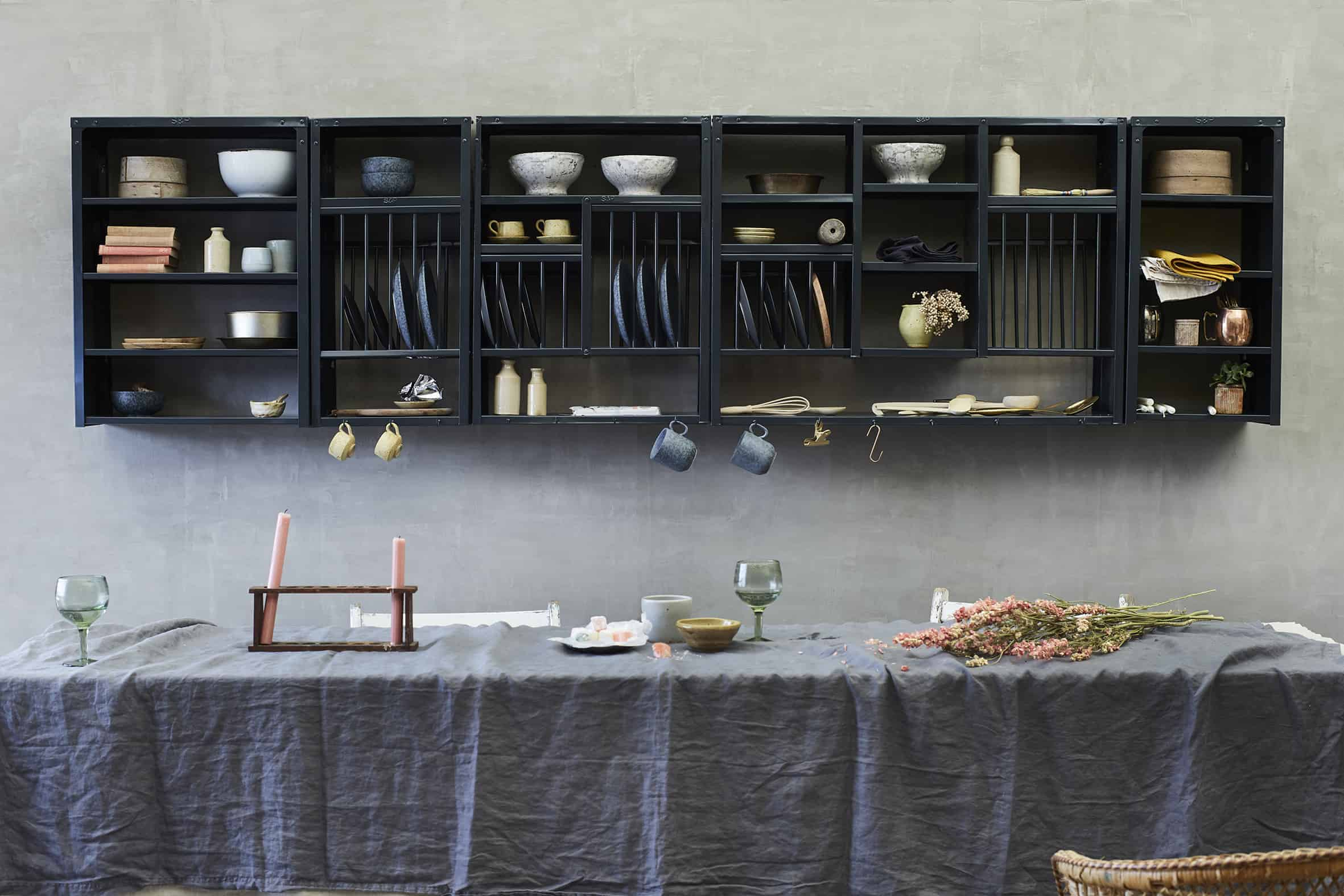 Anthracite Racks and Shelves